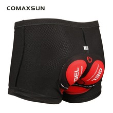 COMAXSUN Cycling Shorts Pro 5D Gel Padded Shockproof Black Underpant Bicycle Bike Underwear