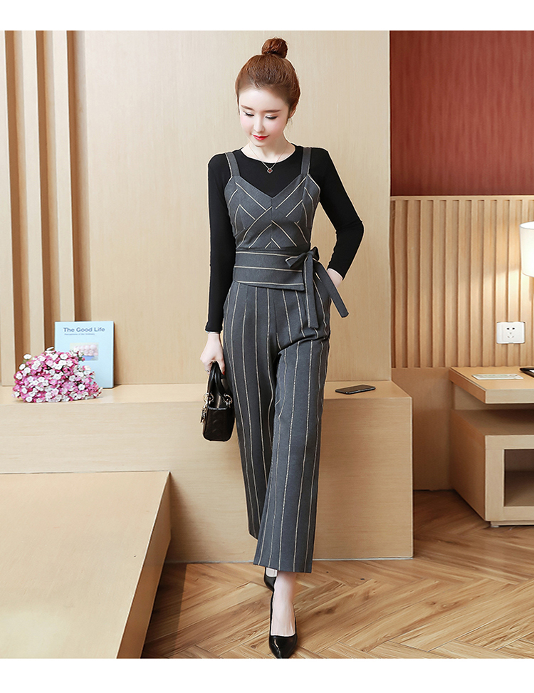 YICIYA Women outfits tracksuit sportswear Striped top and bib pants suits 2 piece set co-ord set OL Office 2019 bodycon clothing 16