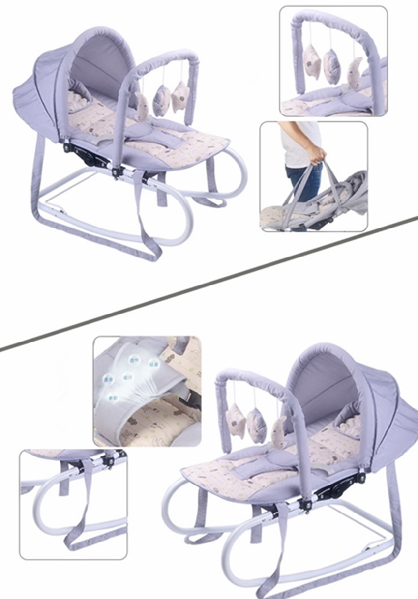 6 gift in1 Baby rocking chair cradle baby soothing chair   rocking chair rocking chair sleeping artifact