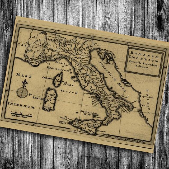 Venta Caliente Italia Mapa Papel Kraft Retro Saln Caf Bar Pub Decorar Cartel Vintage Wall