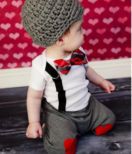 Retail 1set boy gentleman T-shirt+pants 2PC suits kids soft clothes wear summer fit 2-6yrs - J&L ANGEL store