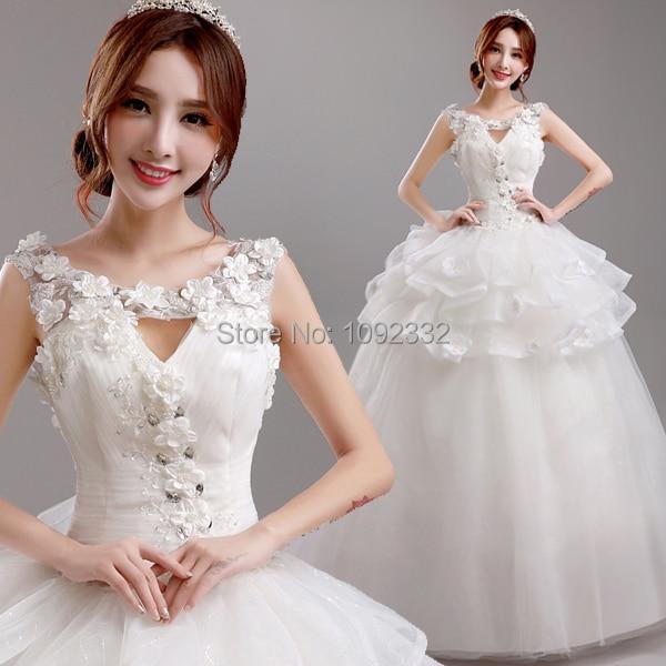 Korean Wedding Flowers: S 2016 New Stock Plus Size Bridal Gown Wedding Dress