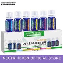 100% puro composto oli essenziali fragranza per il corpo massaggi bagno aromaterapia diffusori relax rinfrescante 10 ml / pc 6 pz / set