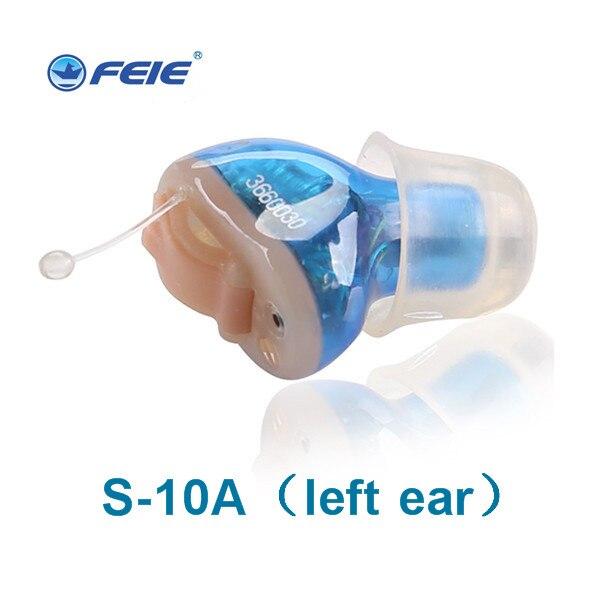 Usynlig høreapparat til høreapparat digital itc høreforstærkere s-10a øre pleje støjreduktion super lydforstærker til højre øre