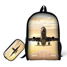 mochila escolar feminina backpack Pencil bag masculina school bags infantil sac dos menino rugzak menina kawaii Aircraft