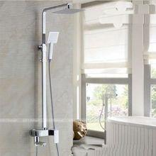 Колонна душевая розницу chrome дождь душа оптом смеситель продвижение установить ванна