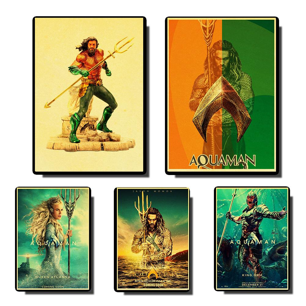 Decor Poster Wall-Painting Prints Aquaman High-Quality