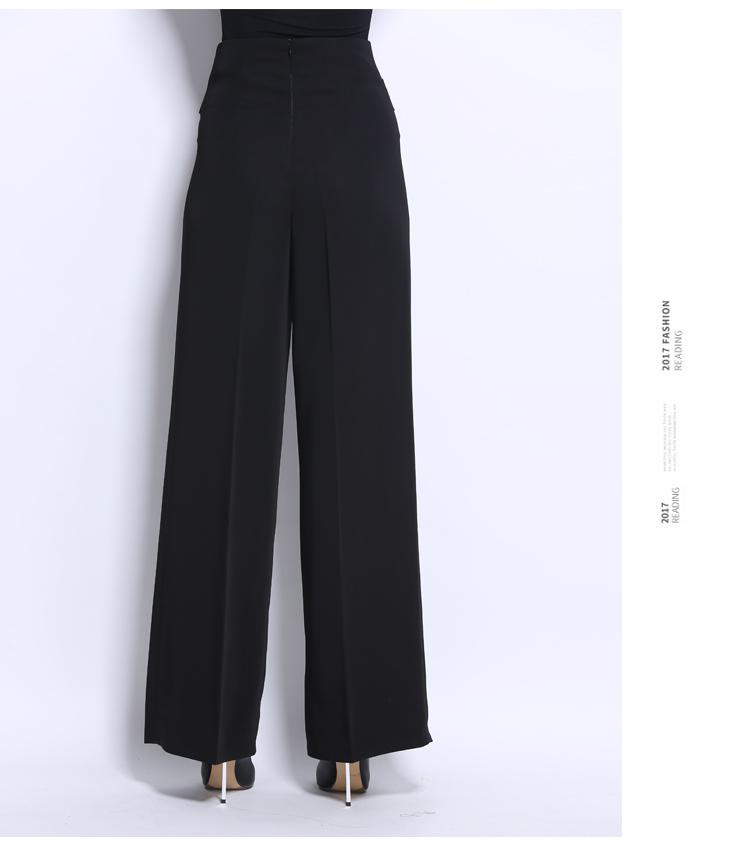 Woman's Adult Latin Dance Pants Long High Waist Broad Leg Trousers Ballroom Performance Dance Practice Clothes Flared Pants H658 14