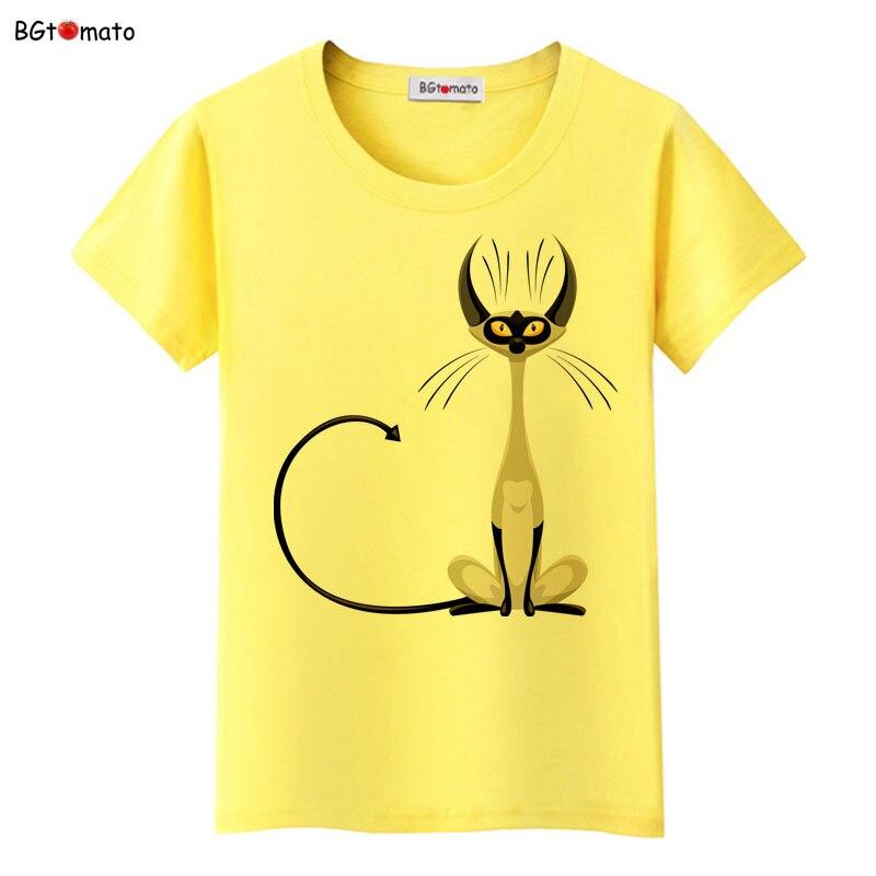 BGtomato super cool elegant cat t shirt women hot sale clothes lovely tshirt fashion top tees t-shirt Brand kawaii shirt 10