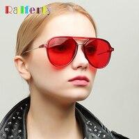 f402790a48a Ralferty Trendy Oversized Sunglasses Women Men Aviation Sun Glasses  Transparent Vintage Red Eyewear Accessories Oculos W1339