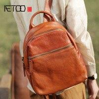 AETOO оригинальные дизайнерские большая емкость из мягкой кожи сумка Японский кожаная сумка ручной работы простой ретро кожаный рюкзак