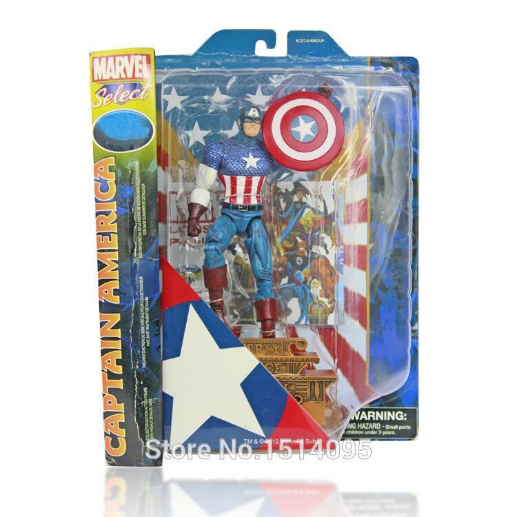 "10""25cm <font><b>MARVEL</b></font> <font><b>Select</b></font> Superhero The Avengers <font><b>Captain</b></font> <font><b>America</b></font> PVC <font><b>Action</b></font> <font><b>Figures</b></font> Collection Toy Gift CA001"