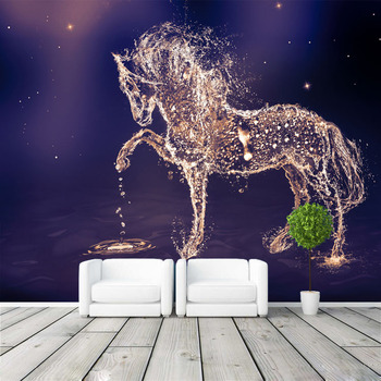 Fantasy horse Photo Wallpaper Custom Wall Mural Charming galaxy Wallpaper wall art Bedroom Girls Kid