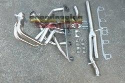 Exaustão coletor de cabeçalho + y-tubo para 1981-1986 jeep cj7/81-83 cj5 de aço inoxidável