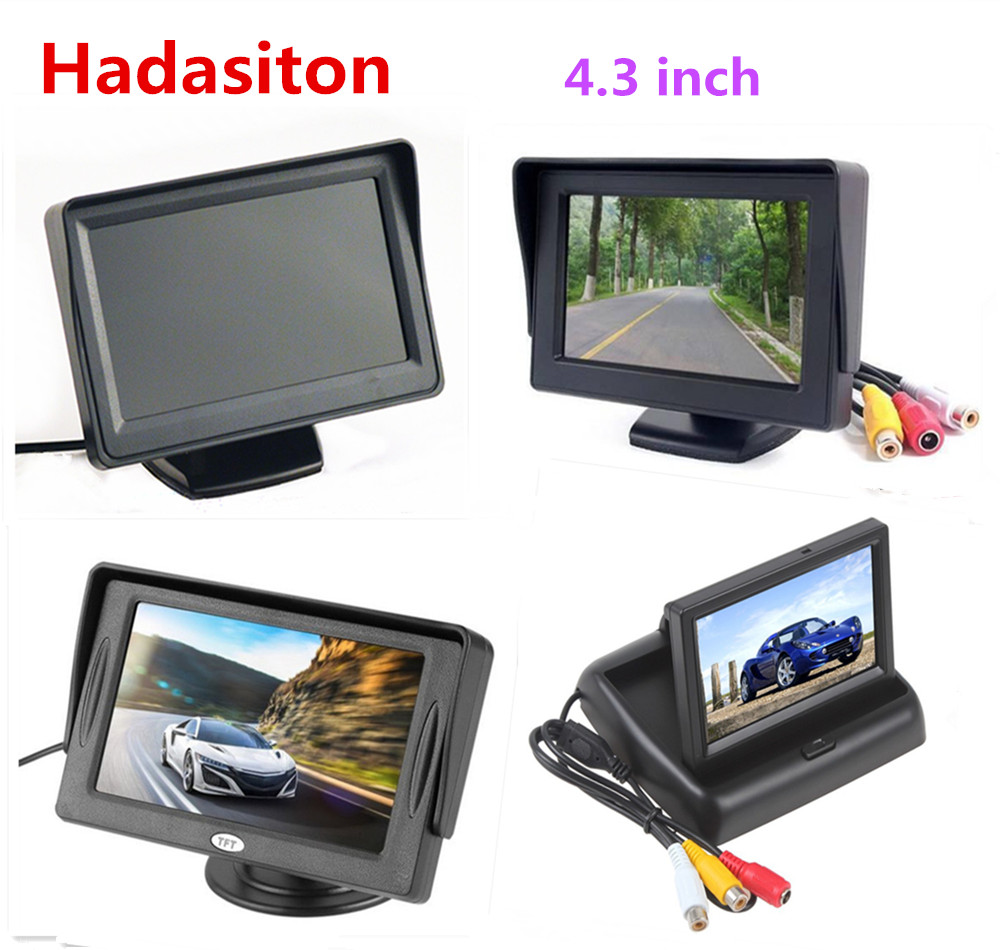 Car Monitor 4.3 inch TFT LCD Color Screen Reverse parking assistance with 2 AV input title=