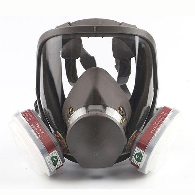 Masques à gaz respirateur complet pour l'industrie pulvérisation peinture Pesticides chimiques formaldéhyde brume brouillard 6800 masques de protection