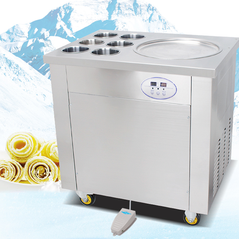 Hot Selling Ice Pan Machine With 6 Cooling Pans Ice Pan Machine Fried Ice Cream Roll Machine For Sale