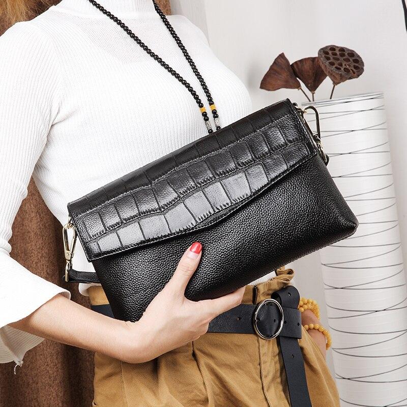 все цены на Candy Colors Bag Wristlet Soft Genuine Leather Evening Day Clutch Wallet Brands Ladies Wristlet Female Purse Party bag gifts онлайн