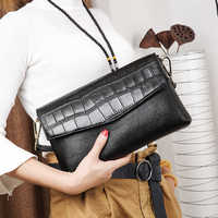 Candy Colors Bag Wristlet Soft Genuine Leather Evening Day Clutch Wallet Brands Ladies Wristlet Female Purse Party bag gifts