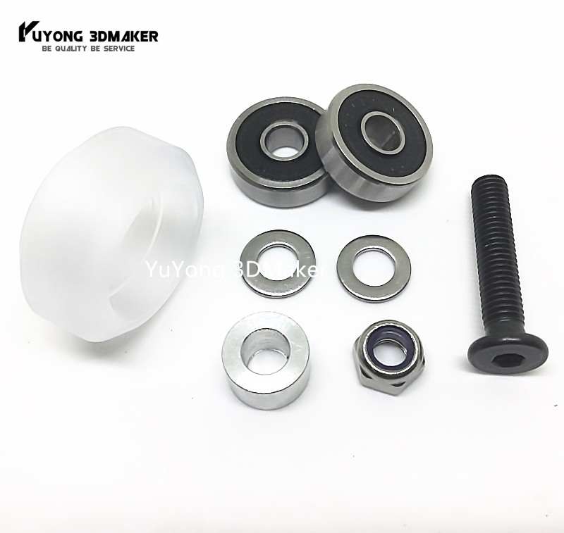 New listing CNC clear Polycarbonate Xtreme solid v wheel kits for Openbuilds v slot linear rail