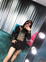 WE0871 модные Для женщин Топы И Футболки 2018 взлетно посадочной полосы Элитный бренд Европейский Дизайн вечерние стиль футболки Женская одежда