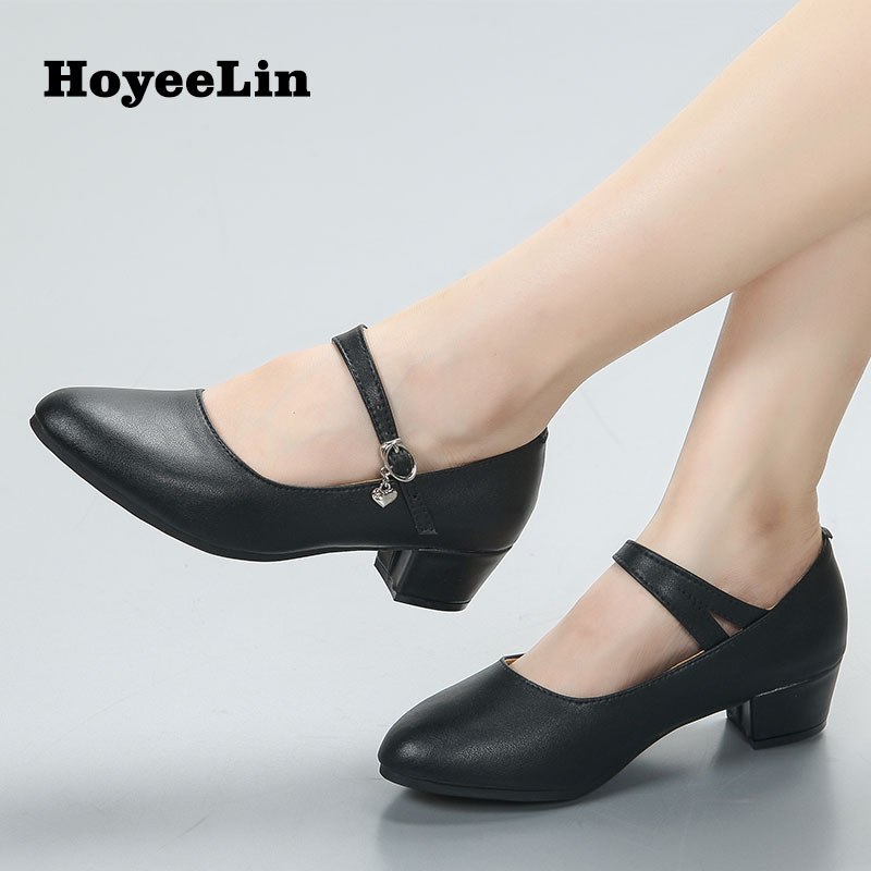 New Women Ladies High Quality Cow Leather Tango Dancing Shoes Closed Toe Low Heeled Ballroom Latin Salsa Waltz Dance Shoes new arrival brand modern dance shoes women dancing shoes heeled latin ballroom