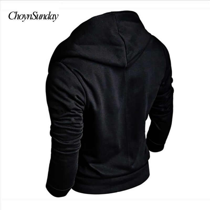ChoynSunday 2018 Sudadera con capucha de marca Hip-Hop para hombre, sudaderas con capucha, cremalleras de colores sólidos, ropa de hombre, ropa informal para hombre sudaderas con capucha