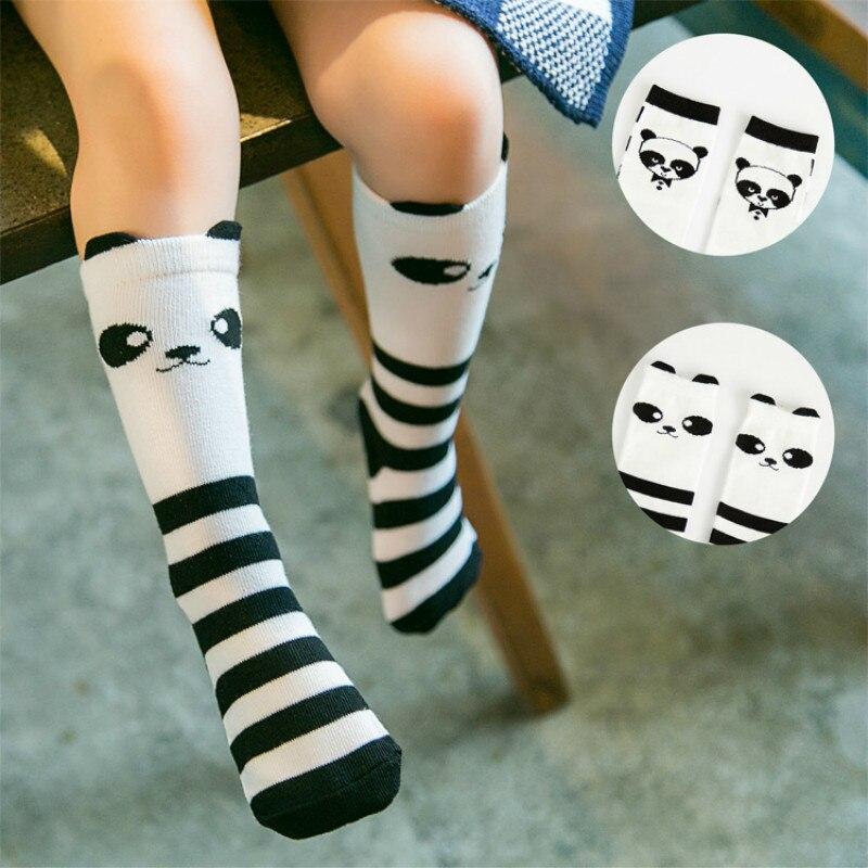 Забавные счастливые дети Детские носки для младенцев чулочно-носочные изделия От 1 до 6 лет хлопок Meias колена длинные носки Meia носки Calcetines де...