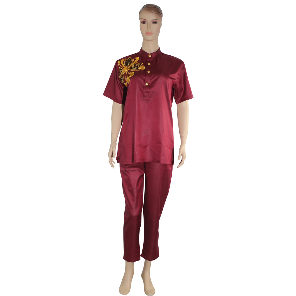 H D dashiki african women suits tops shirt pant outfit suit two 2 pieces set africa lady clothes riche clothing in Africa Clothing from Novelty Special Use