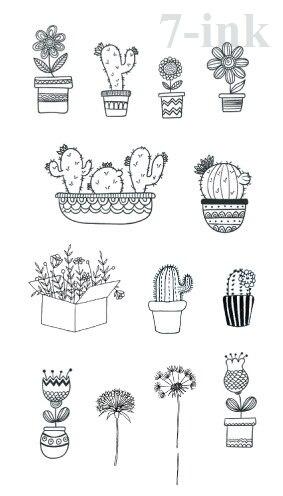 Waterproof Temporary Tattoo cute animal cactus Dandelion