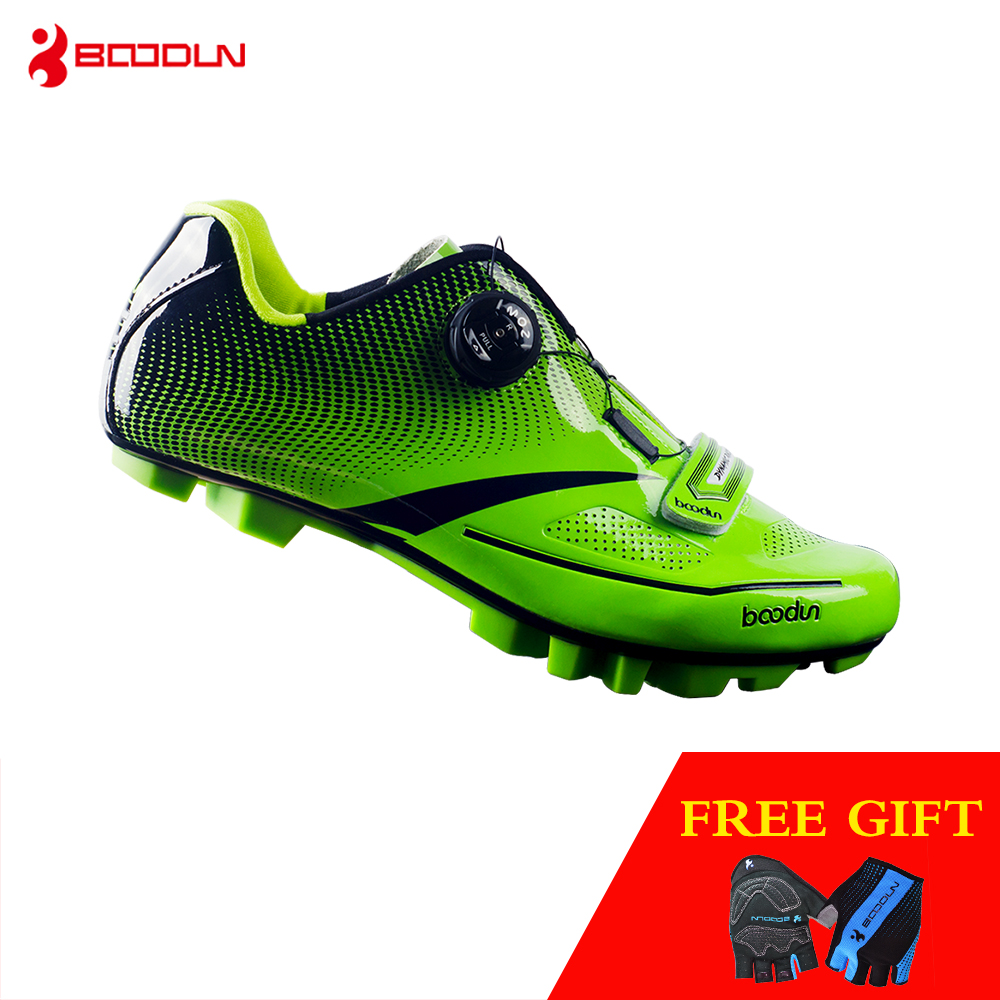 Boodun Outdoor Sports Cycling Shoes Men Pro MTB Bike Racing Shoes Waterproof Breathable Light Athletic Self-locking Shoes Men peak sport men outdoor bas basketball shoes medium cut breathable comfortable revolve tech sneakers athletic training boots