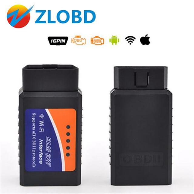 Car Diagnostic Tool OBD2 ELM327 V1.5 WIFI Adapter Scanner for iPhone IOS  OBD 2 ODB II ELM 327 WIFI ODB2 Car Scanner EML327 v2.1