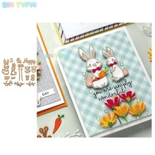 BM Easter bunny Metal Cutting Dies Stencils For Card Making Decorative Embossing Suit Paper Cards DIY Scrapbooking