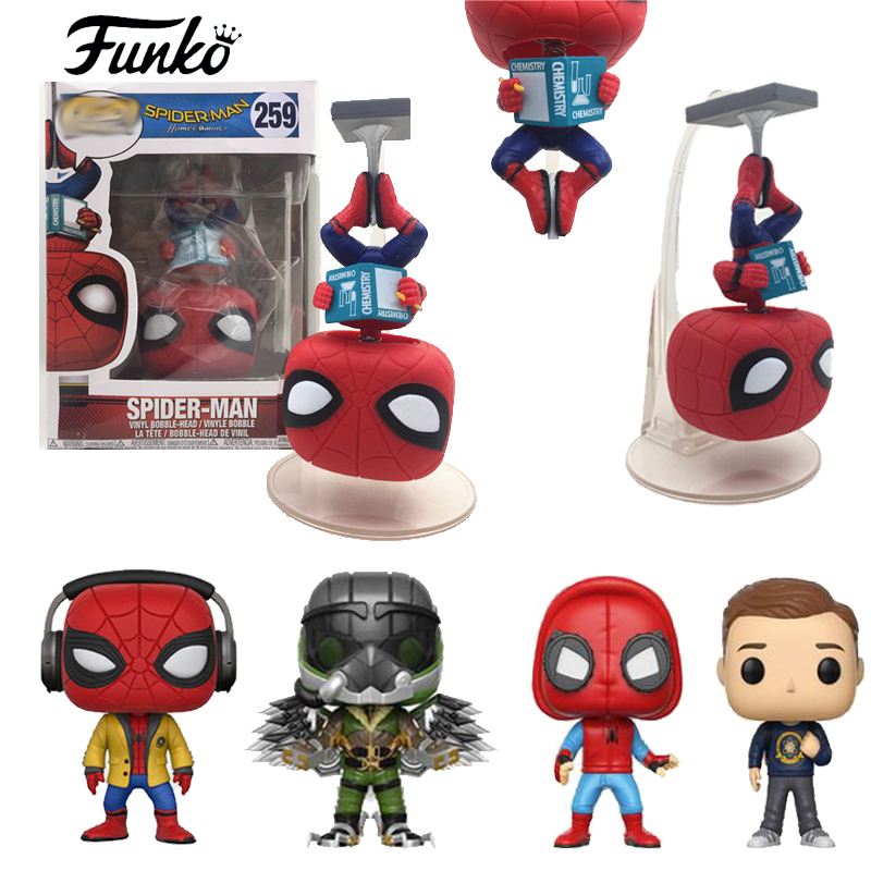 Spider-Man:Homecoming Spiderman upside down Action Figure Toy Doll FUNKO-POP