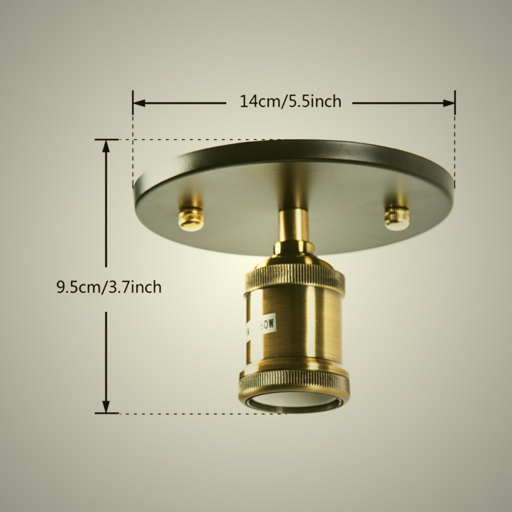 Vintage ceiling light e27 iron loft small lights edison for Ceiling lamps for kitchen