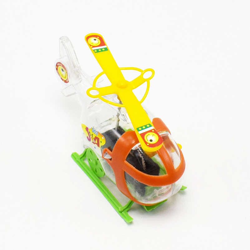 3 шт Дети Ветер Классические игрушки мультфильм Пластиковый Вертолет модель цепи Пружинные игрушки для детский любимый подарок