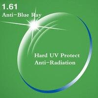 1.61 Index Ultra Thin CR 39 Aspheric Optical Prescription Lens Myopia Presbyopia UV Protect Anti Blue Rays Anti Radiation