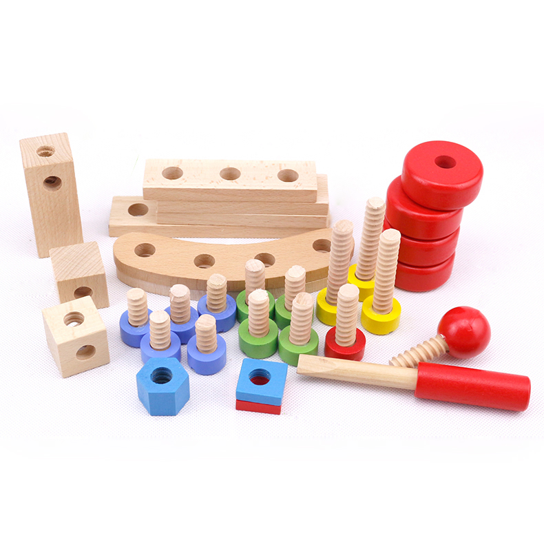 Chanycore Baby Learning Educational Wooden Toys Blocks Screws Nuts Assemblage Geometric Shape Combination 31 hmy Kids Gifts 4213 chanycore baby learning educational wooden toys blocks jenga balance domino 60pcs mm geometric shape enlightenment kid gift 4183