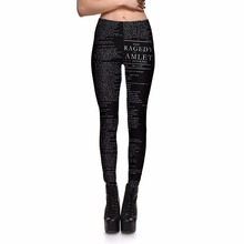 New Arrival 3711 Sexy Girl Women The tragedy of hamlet masterwork 3D Prints Elastic Fitness Polyester Walking Leggings Pants