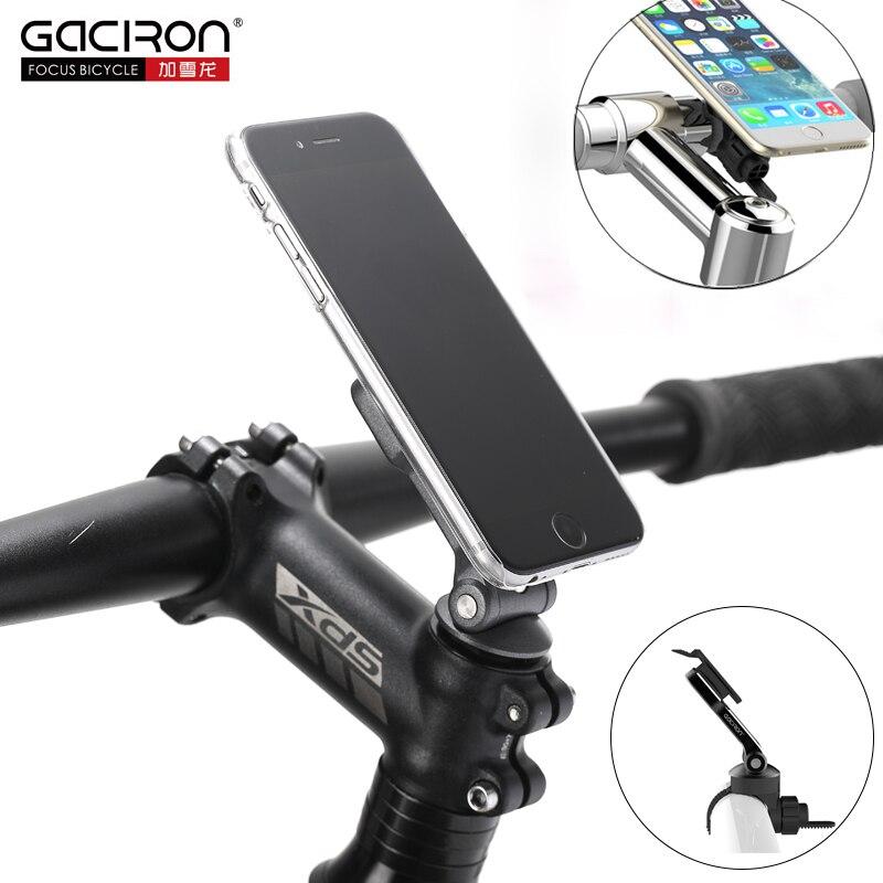d91f35317 Gaciron soporte de teléfono Universal bicicleta de manillar de la  motocicleta y el tallo teléfono móvil soporte giratorio camino de MTB  accesorios para ...