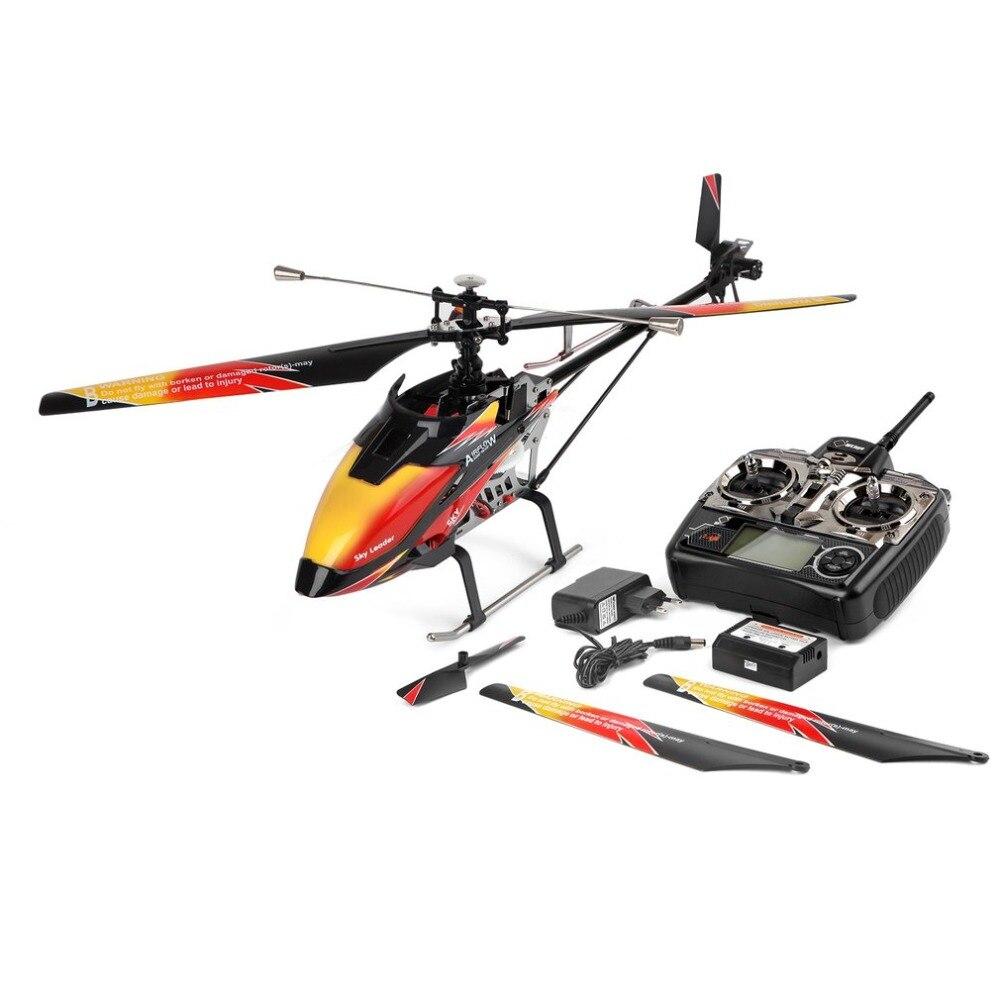Wltoys V913 Brushless 2.4g 4CH Lama Singola Built-In Gyro Volo Stabile Eccellente di Alta efficienza Del Motore RC Elicottero