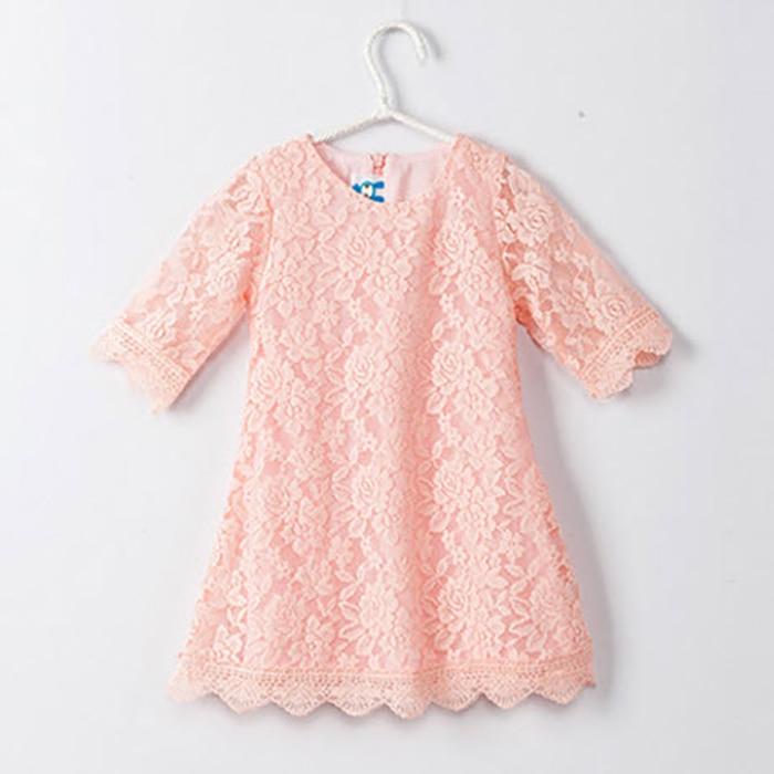 Ana Daugter Dress 2019 Yeni Moda Yaz Payız Dantel paltarları - Uşaq geyimləri - Fotoqrafiya 3