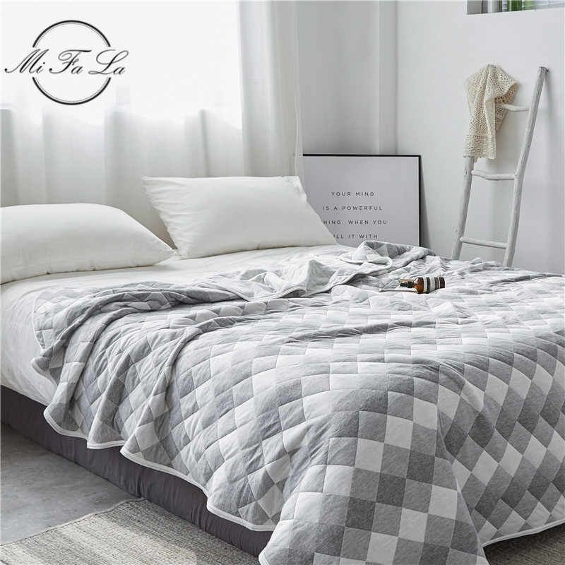 Cotton Knitted Summer Blanket Throw Full Queen Size Air Conditioning Comforter Quilt Soft Plaid Bedspread Sheet Bed Cover colcha