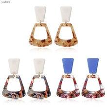 Fashion Boho Acrylic Geometric Long Dangle Drop Hook Statement Earrings Women Girl Ladies Jewelry Gift недорого