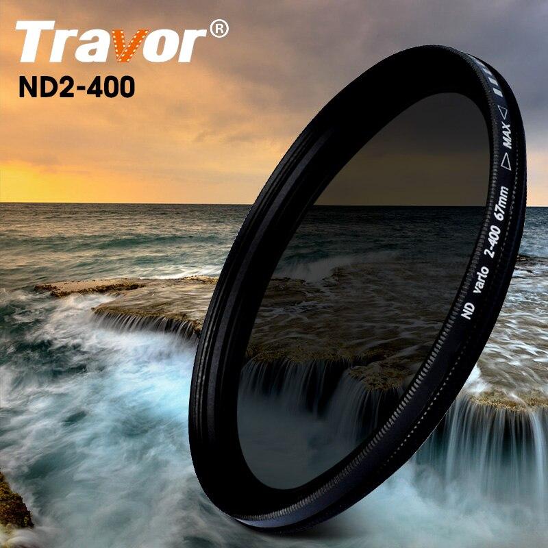 Travor Kamera Filter Einstellbar Variable ND Filter Einstellbare ND2 Zu ND400 Für Canon Nikon Kamera (49 52 55 58 62 67 72 77) MM