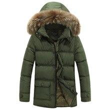 2016 Большой Размер Зимняя Куртка Мужчины Пальто Хлопка 3 Цвета Теплая Куртка Мужчины Ветрозащитный С Капюшоном Мужчины Куртку
