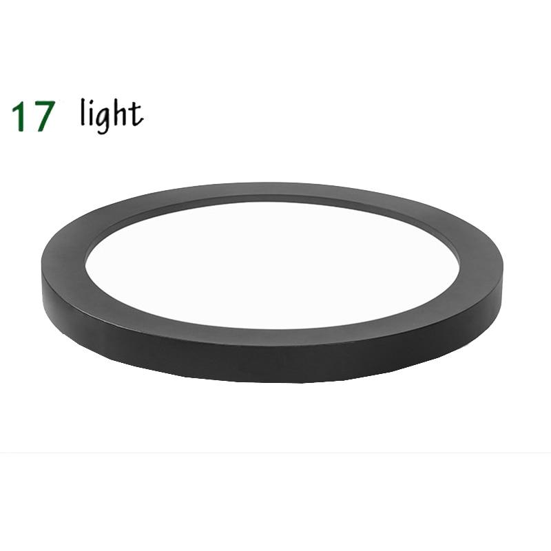 Lampe de plafond acrylique de couleur blanche/noire ronde de LED moderne pour la décoration à la maison style créatif de mode pour la chambre à coucher