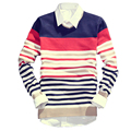 LASPERAL Stripe Fresh Spring Men Sweater Fashion 2017 Stripe Orange Long Sleeve v Neck Sweater Young Men For Spring  Asian Size