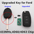 (Actualizado llave a distancia) 433 mhz 4d60 o 4d63 chip para ford c-max s-max de coches focus mondeo fiesta galaxy