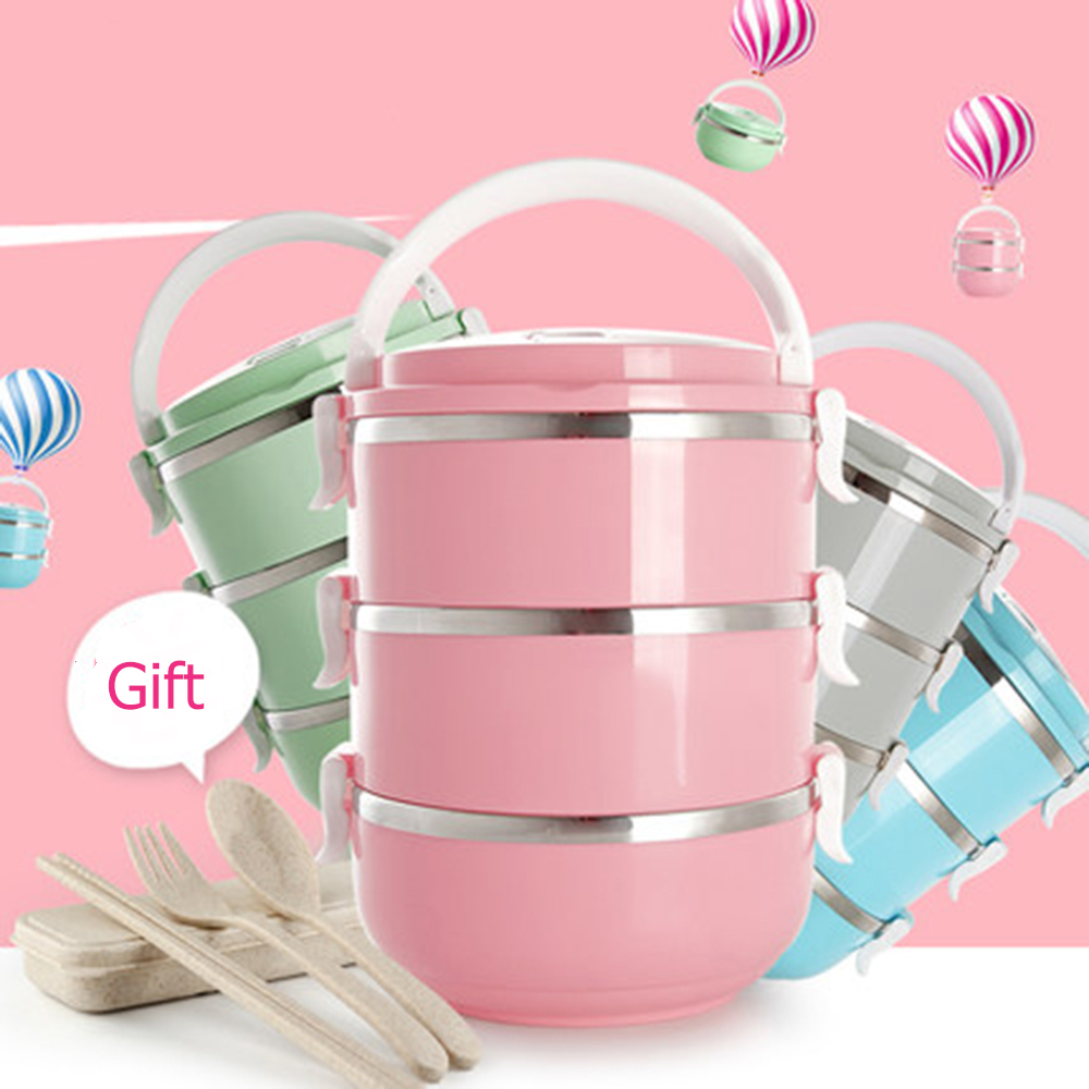 304 Stainless Steel Lunch Box Food Thermo Lunch box for Kids Thermal Lunch Box Bento Japanese